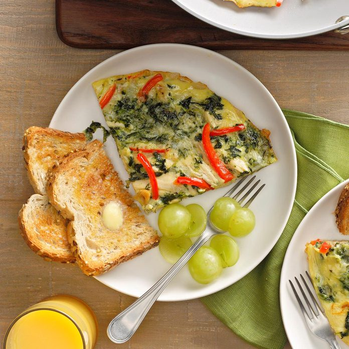 Spinach Chicken Frittata