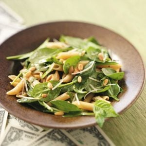 Spinach Salad with Penne