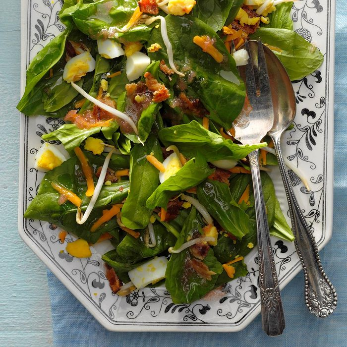 Spinach Salad with Rhubarb Dressing