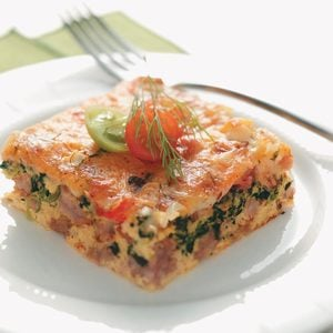 Spinach and Sausage Egg Bake