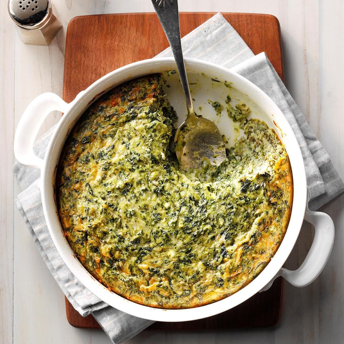 Spinach Souffle Side Dish