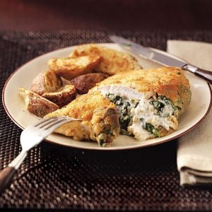 Spinach-Stuffed Chicken Pockets for Two