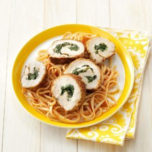 Spinach-Stuffed Chicken with Linguine