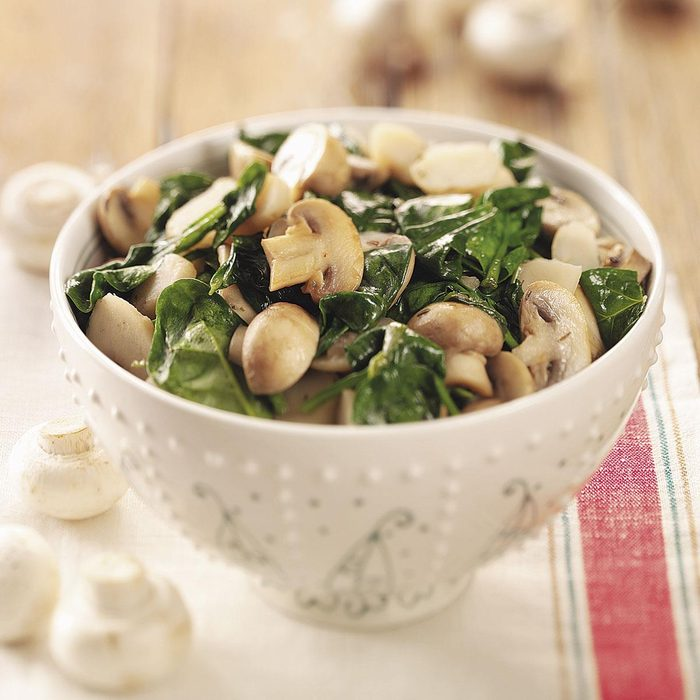 Spinach and Mushrooms