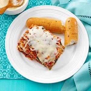 Spinach and Sausage Lasagna