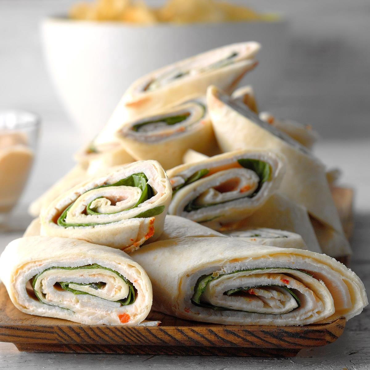 Day 2 Lunch: Spinach and Turkey Pinwheels