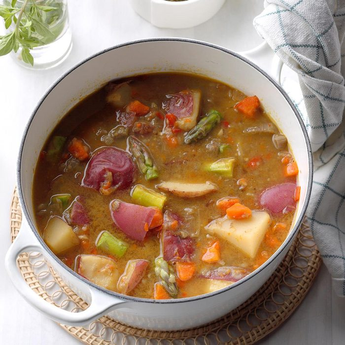 Spring Essence Soup with Pistou