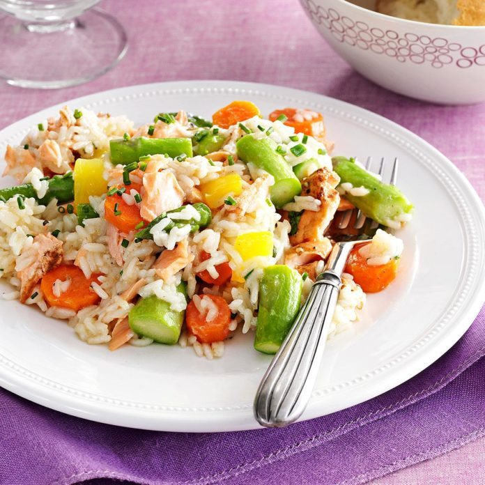 Make: Spring Pilaf with Salmon & Asparagus