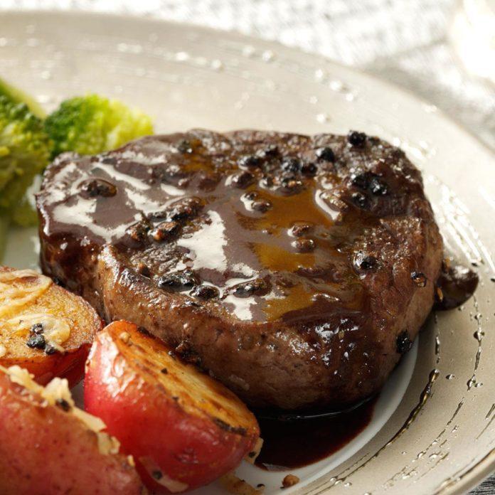 Steak au Poivre for 2