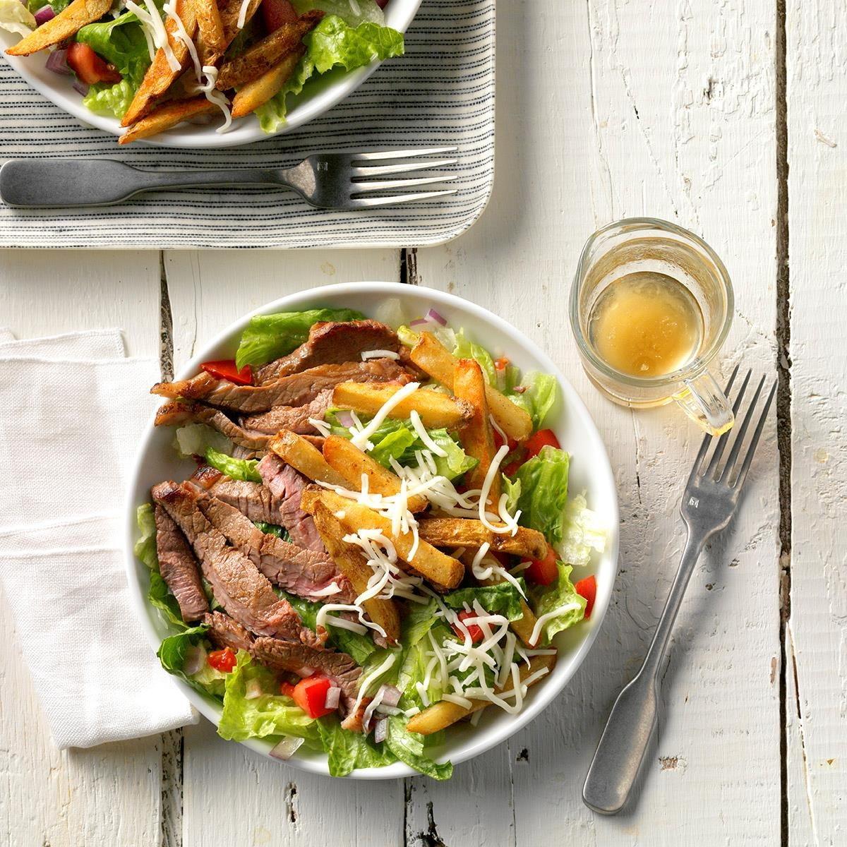 Day 1 Dinner: Steak 'n' Fries Salad