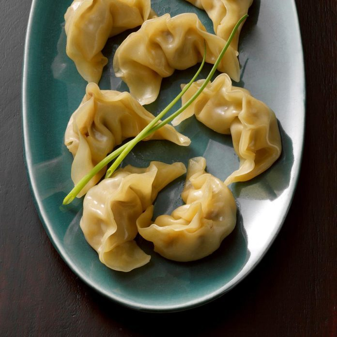 Steamed Beef & Ginger Pot Stickers