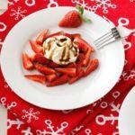Strawberries with Vanilla Mascarpone and Balsamic Drizzle