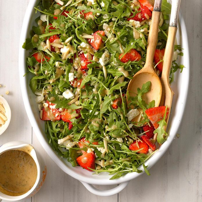 Party-Ready Easter Buffet: Strawberry Arugula Salad with Feta