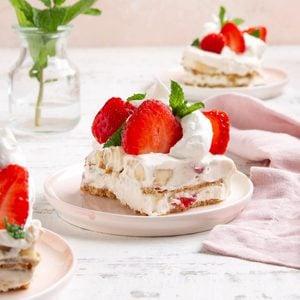 Strawberry-Banana Graham Pudding