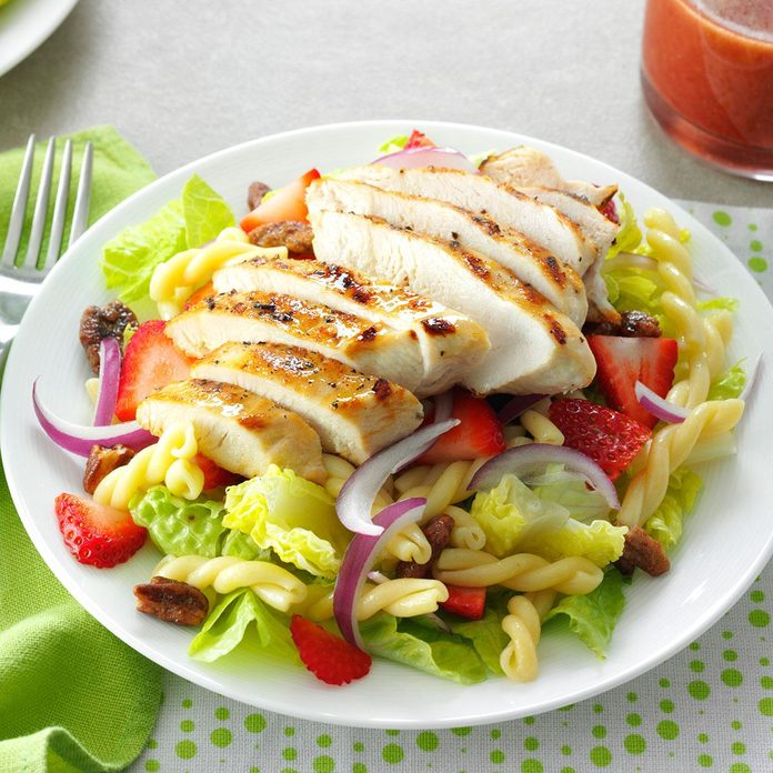 Oklahoma: Strawberry-Chicken Pasta Salad