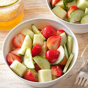 Strawberry, Cucumber & Honeydew Salad