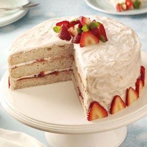 Strawberry Jam Cake