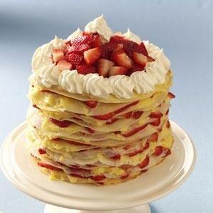 Strawberry-Lemon Crepe Cake