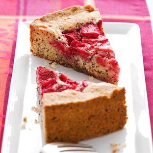 Strawberry Poppy Seed Cake