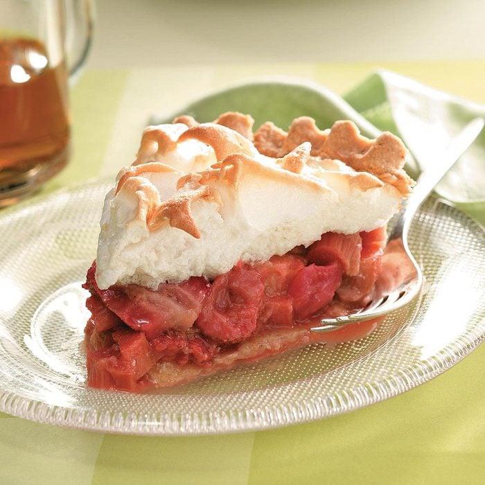 Strawberry-Rhubarb Meringue Pie
