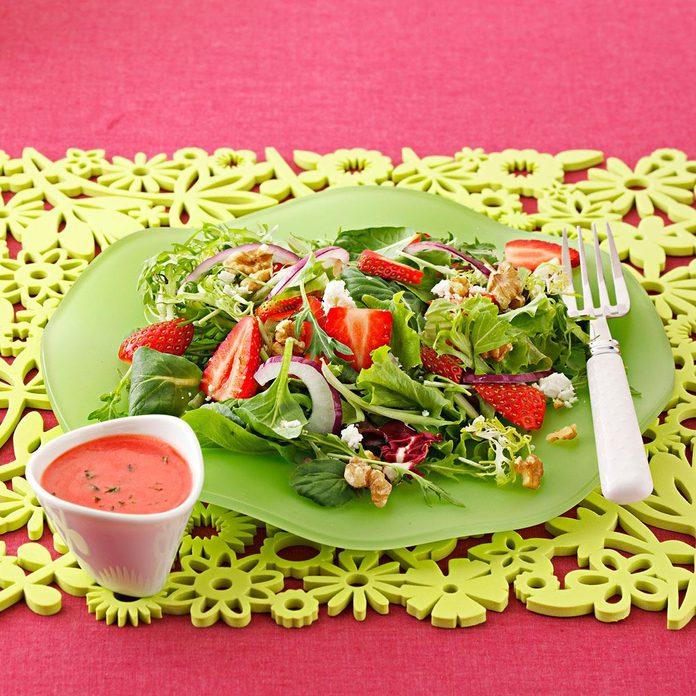 Strawberry Salad with Mojito Vinaigrette