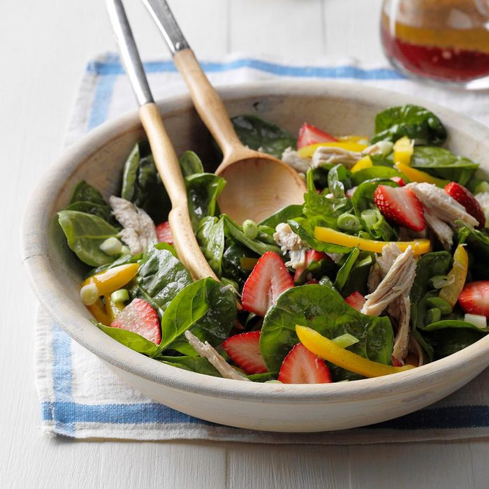 Day 24: Strawberry-Turkey Spinach Salad