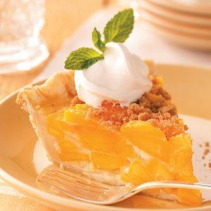 Streusel Peach Pie
