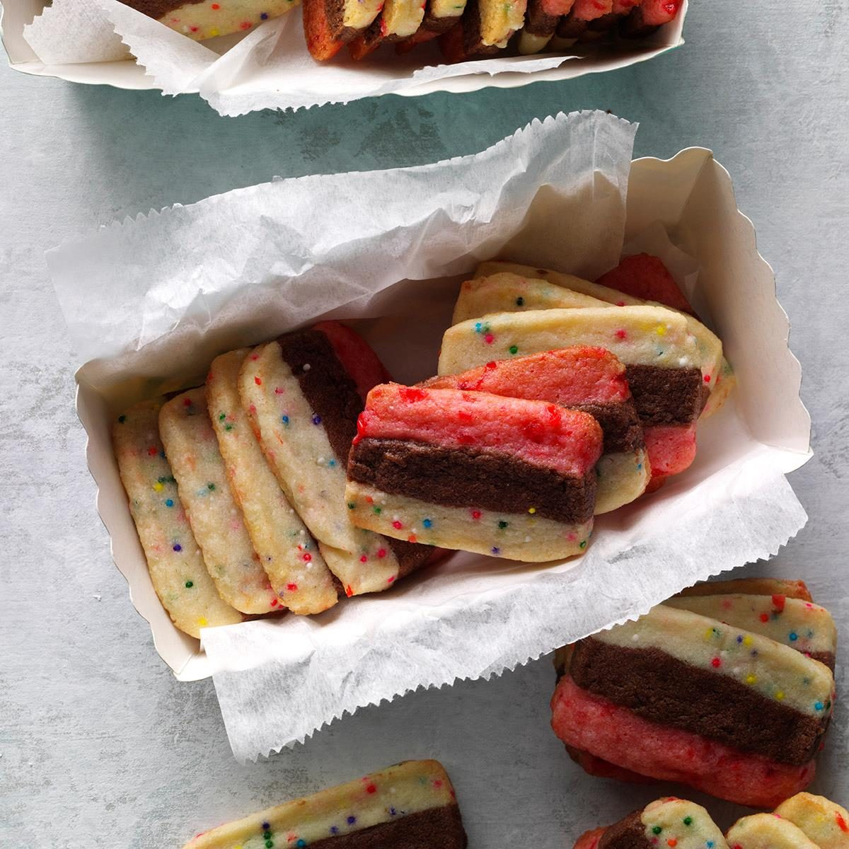 Striped Icebox Cookies