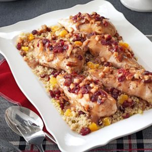 Stuffed Chicken Breasts with Cranberry Quinoa