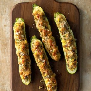 Stuffed Grilled Zucchini