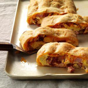 Stuffed Ham & Egg Bread