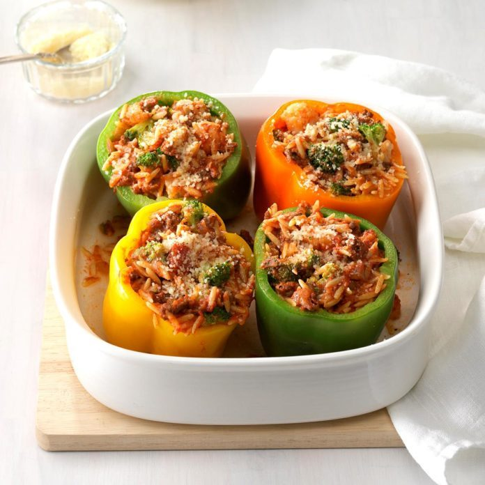Day 24: Stuffed Peppers for Four