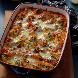Stuffed Shells with Arrabbiata Sauce