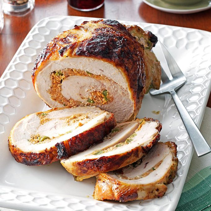 Stuffed Turkey with Mojo Sauce