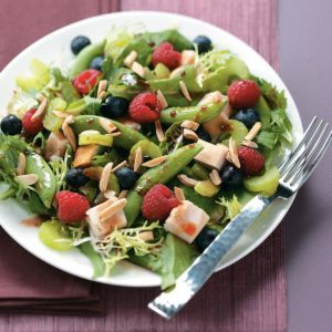 Summer Chicken Salad with Raspberry Vinaigrette