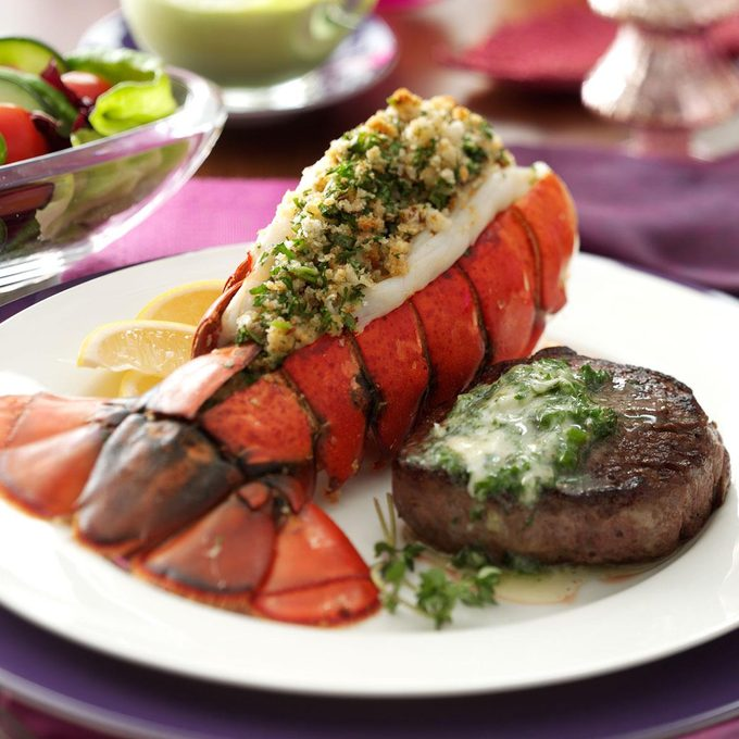 Inspired by: NY Strip and Rock Lobster Tail