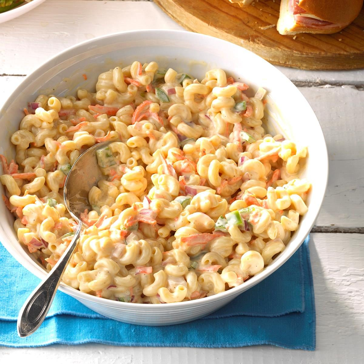 Sweet Macaroni Salad in a bowl