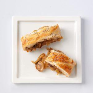 Sweet Onion & Mushroom Braid