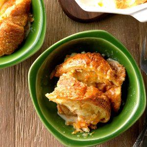 Sweet Orange Croissant Pudding