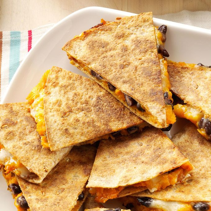 Goes with Tortilla Soup: Sweet Potato & Bean Quesadillas