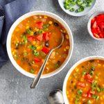 Sweet Potato Bean  Soup