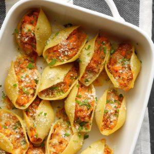 Sweet Potato & Caramelized Onion Shells