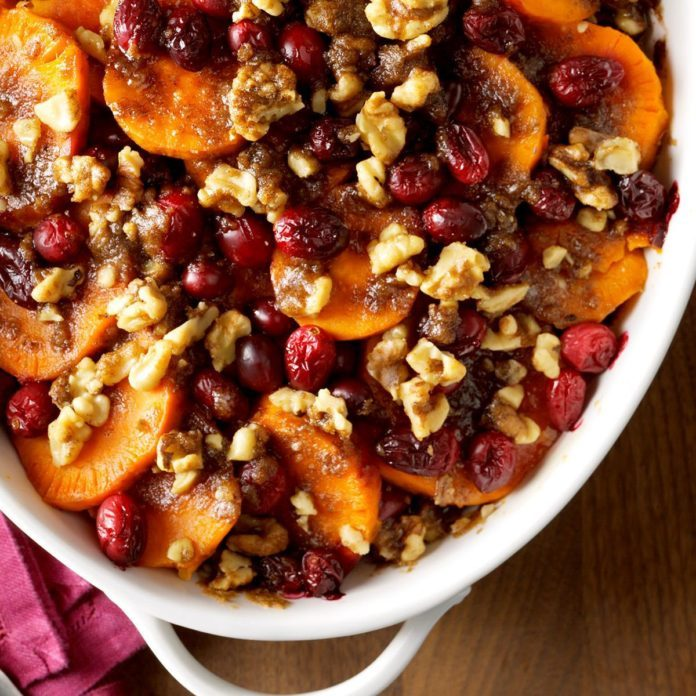 Sweet Potato Cranberry Bake