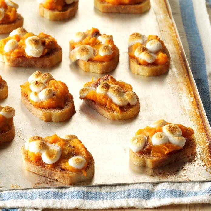 Sweet Potato Crostini