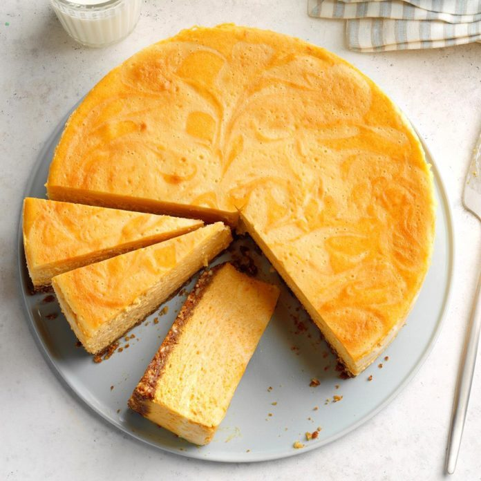 Sweet Potato & Marshmallow Swirl Cheesecake