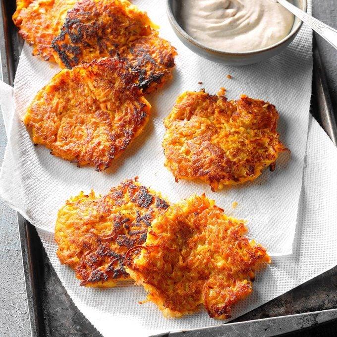 Sweet Potato Pancakes With Cinnamon Cream Exps Fttmz18 145835 D11 17 4b 2