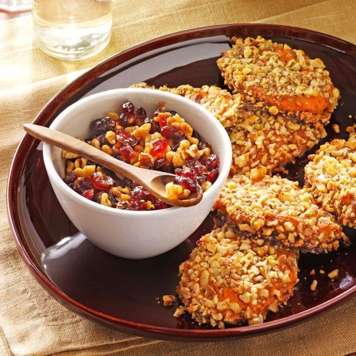 Sweet Potato Patties with Orange Relish