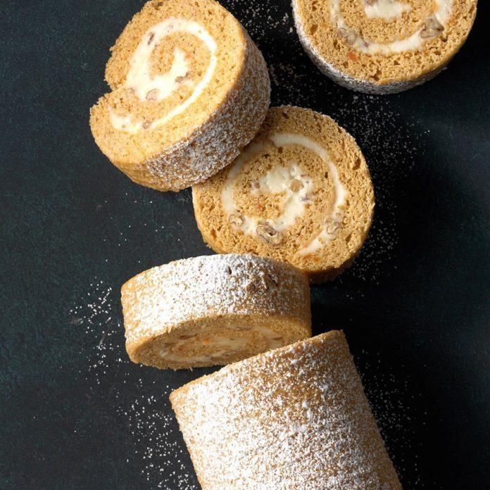 Sweet Potato Pie Cake Roll