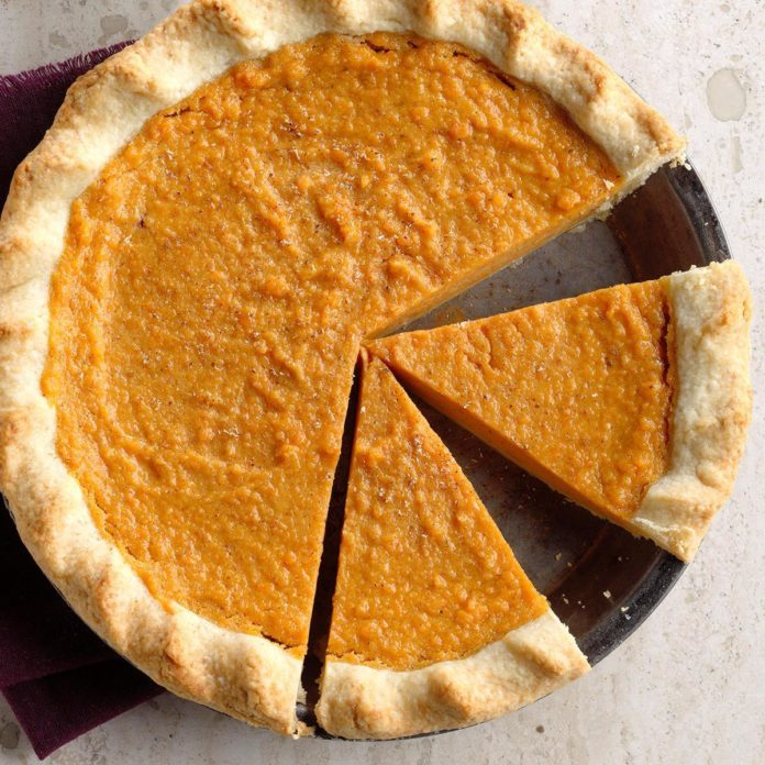 sweet potato pie recipe taste of home