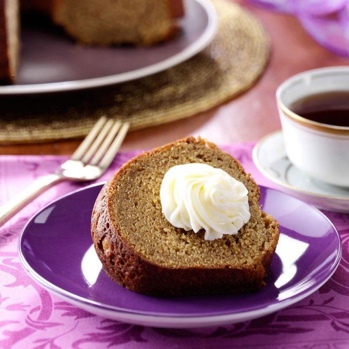 Sweet Potato Pound Cake with Marshmallow Frosting
